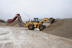 extraccion de arena en el valle