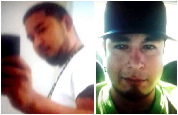 """A ésar de no ser todavia identificados, estos dos son sospechsos de haber participado presuntamente en la triple ejecucion y donde fue asecinado Martin Anaya Gorosave """"El Taliban"""""""