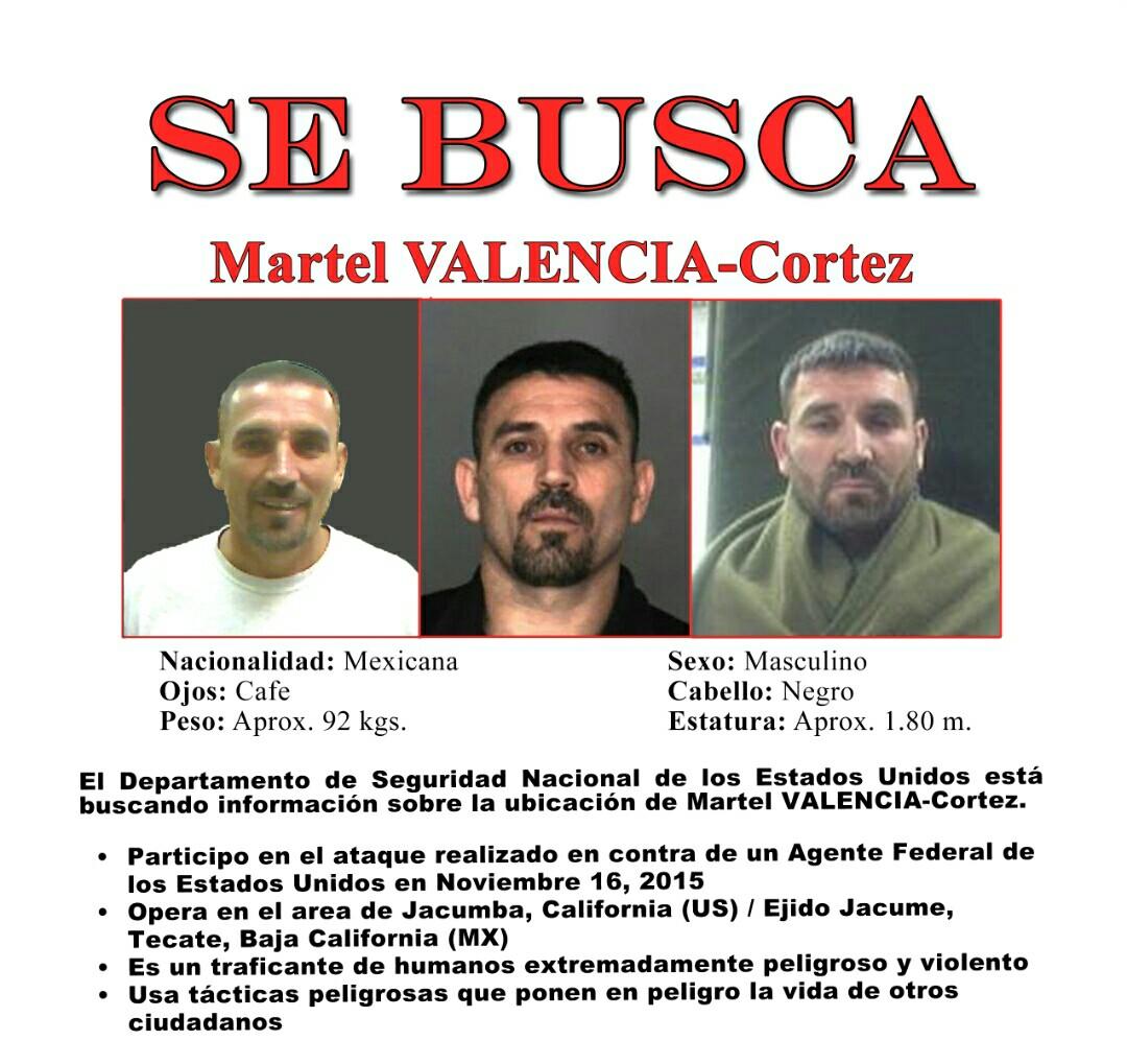 Las imágenes de Valencia Cortez en arrestos previos fueron utilizadas para dar con él.