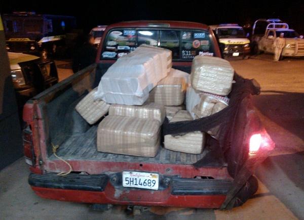 La droga fue puesta a disposición de la Agencia del Ministerio Público del Fuero Federal.