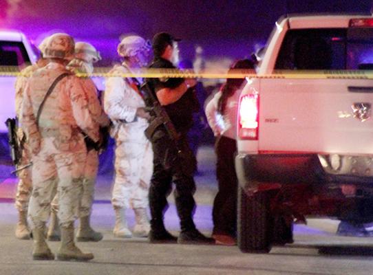 Las fuerzas armadas presentes en todo momento ante la ineficacia e incompetencia de la Policía Ministerial del Estado y Policía Estatal Preventiva.
