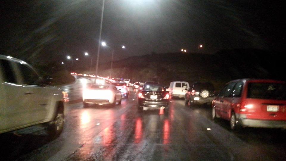 Foto: Francisco Navarro/Caos vial por precipitaciones