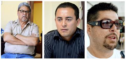 Ramon Franco, Federacion de Cooperativas Pesaqueras; Jose Luis Dagnino, Delegado de San Felipe; Roberto Ledonm Consejo Desarrollo Economico