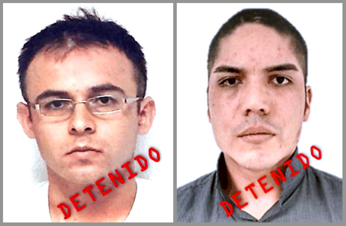 """Alan Fernando Garmiño Moreno de 25 años; Juan Alberto Juarez Cabrera, """"El Bananas"""", de 30 años"""