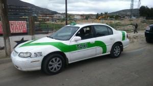 Taxi de los presuntos homicidas