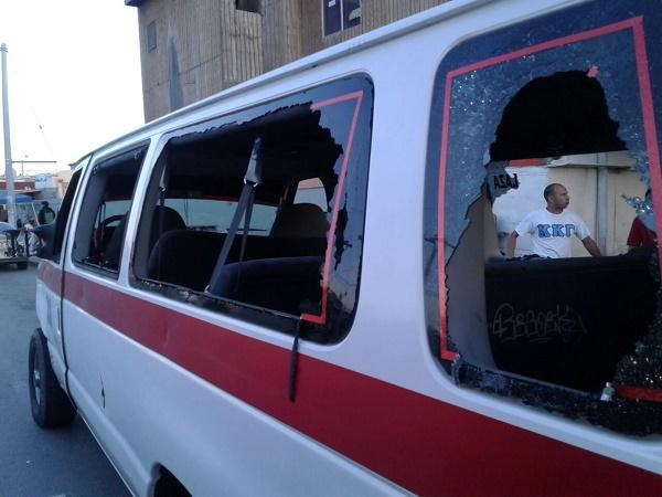 Foto: Cortesía/ En la disputa por la ruta de Villa del campo, taxis son vandalizados