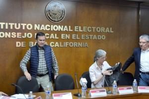 Consejeros y funcionarios del Instituto Nacional Electoral en Mexicali FOTO: SERGIO HARO