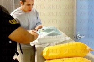 El Marine, momentos antes de abandonar la prisión de El Hongo. Foto: Archivo ZETA