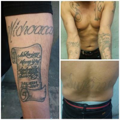 Los detenidos con diversos tatuajes en el cuerpo, no tenían domicilio fijo en Tijuana.
