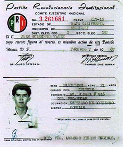 Foto: Cortesía/La credencial de Juan Meleédrez Valle