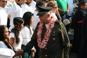 """CUAUTLA, MORELOS, 02MAYO2016.- Salvador Cienfuegos Zepeda durante la conmemorativa al """"CCIV"""" Aniversario del rompimiento del sitio de Cuautla de 1812. FOTO: SAÚL LÓPEZ/CUARTOSCURO.COM"""