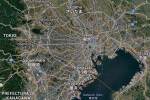 Sagamihara se encuentra al oeste de Tokio. | Fuente: Google Maps