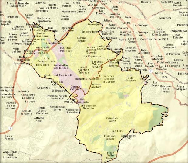 zonas de operacion del CJNG en Tijuana, delegacion Sanchez Taboada, en la mayoria de sus colonias