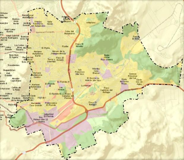 Zonas de operacion del CJNG en Tijuana, delegacion la Presa, principalmente en El Florido, Cañadas del Florido, Terrazas y Villa del campo, asi como parte de Tecate BC
