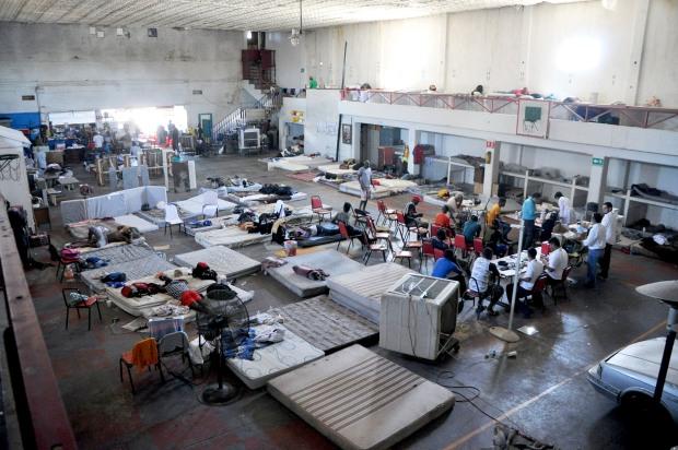 En el albergue Grupo de Ayuda para el Migrante personal del sector salud ha estado atendiendo a los migrantes con revisiones médicas valorando estatura y condición de salud