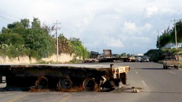 Lugar donde fue el enfrentamiento, carretera 190, Nochixtlán, Oaxaca