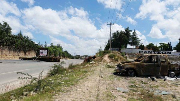 Lugar donde fue el enfrentamiento, carretera 190, nochixtlan oaxaca