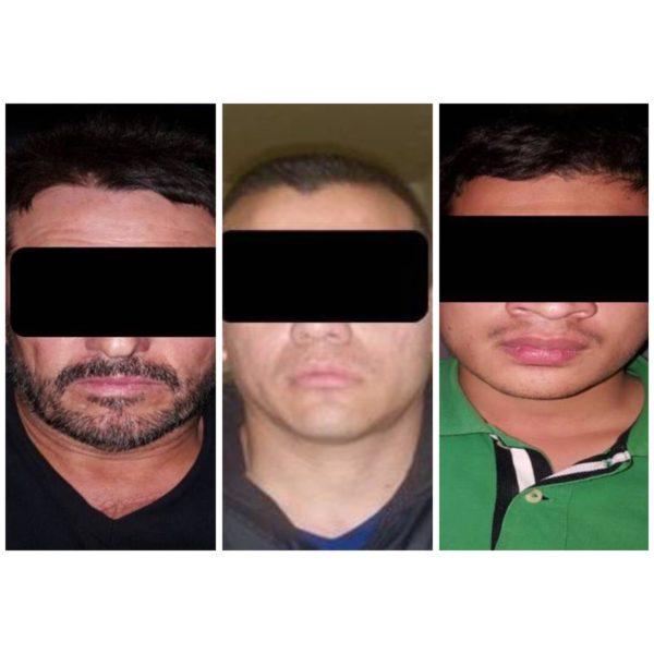 Presuntos delincuentes detenidos en el operativo