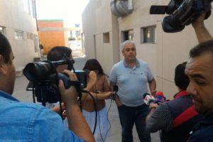 Foto: Saúl Ramírez/ Flor Lugo a su llegada a la PGJE