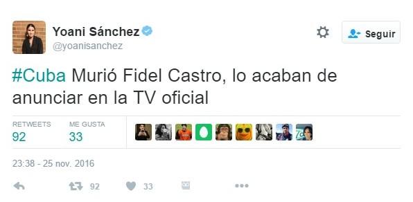 El tuit de la periodista.