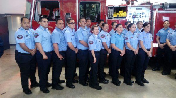 Durante la actual administración fueron contratados 76 bomberos