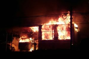 Foto: Isaí Lara/ El siniestro ocurrió en un taller de carrocería