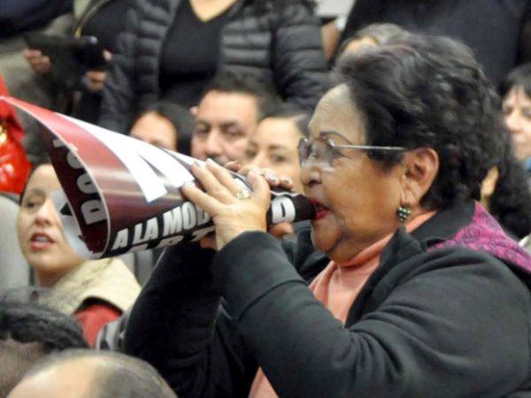 Protestas de maestros en el Congreso