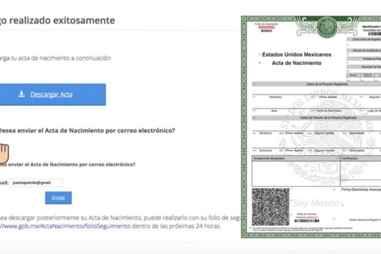 ZETA – ¿Cómo imprimir tu acta de nacimiento por internet y cuánto ...