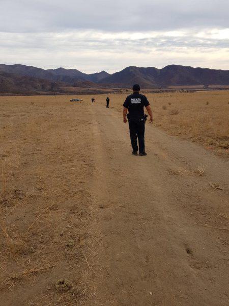 La pista fue localizada en el Ejido San Jacinto