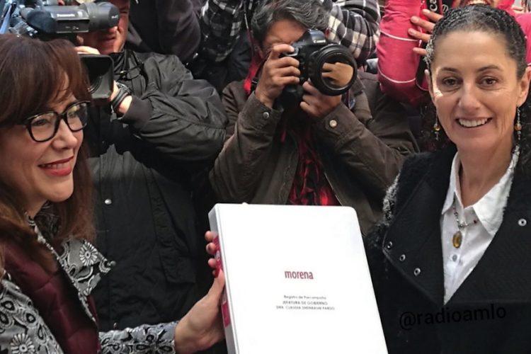 Se registra Sheinbaum como precandidata a jefatura de Gobierno