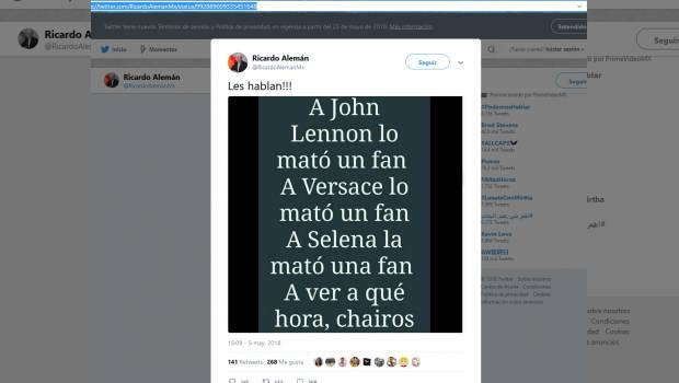 Anuncia Ricardo Alemán su salida de Milenio; fue una decisión personal, afirma