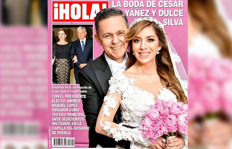 Plasman en revista elegante boda de César Yáñez