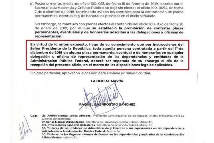 Ordena SHCP correr a personal de delegaciones -Reforma - 30/04/2019   Periódico Zócalo