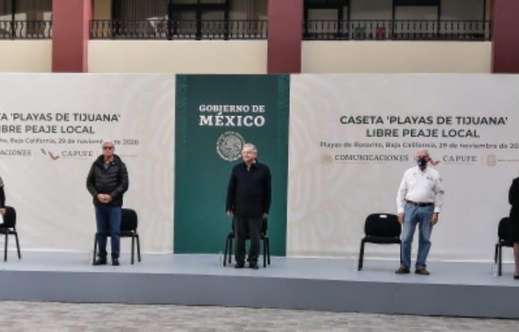 ZETA – AMLO recordó que liberación de caseta de cobro en playas de Tijuana  será para residentes